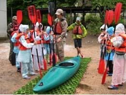 青木湖でのキャンプ